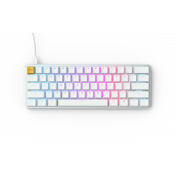 Glorious GMMK Compact White Ice Edition - Gateron Brown, US, gaming keyboard