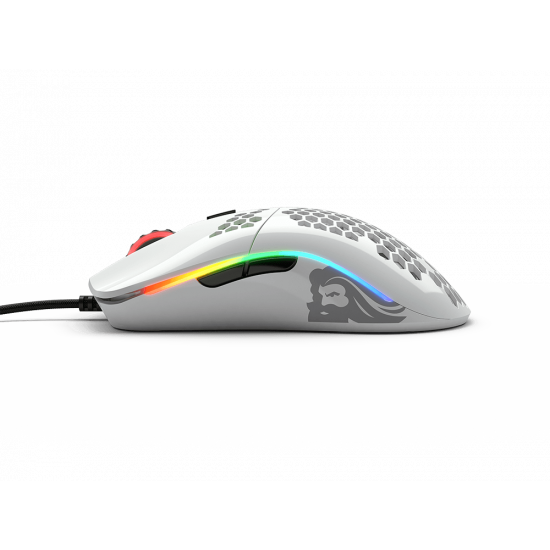 Glorious PC Gaming Race Model O Gaming, glossy white (GO-GWHITE) gaming mouse
