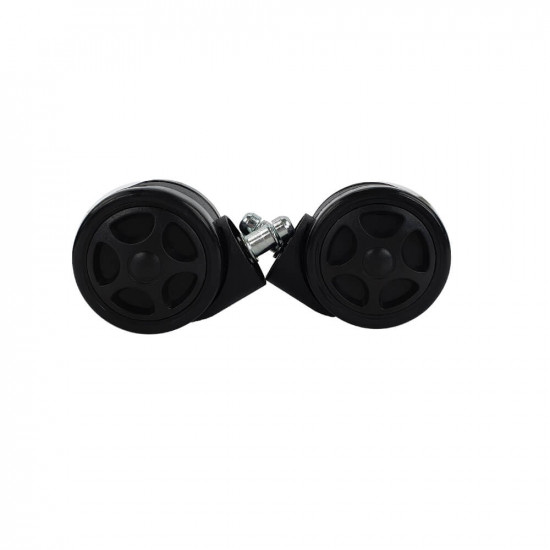 Black Spiral UVI CHAIR rubber wheels (5 in a pack)