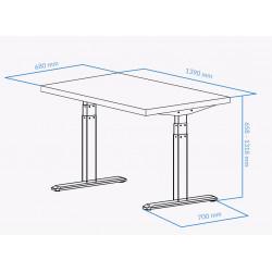 UVI Desk frame GREY and desk NATURAL OAK