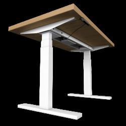 UVI Desk frame WHITE and desk NATURAL OAK