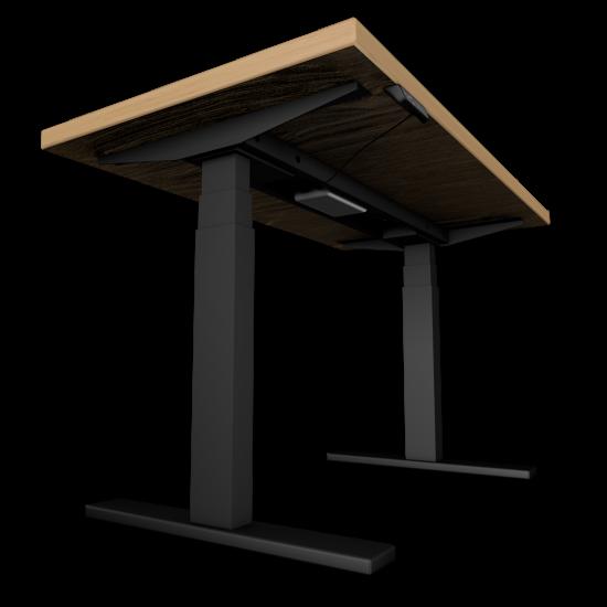 UVI Desk frame BLACK and desk NATURAL OAK