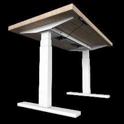 UVI Desk frame WHITE and desk SONOMA