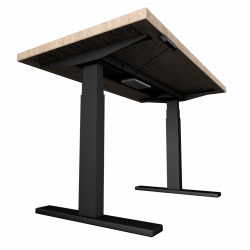 UVI Desk frame BLACK and desk SONOMA