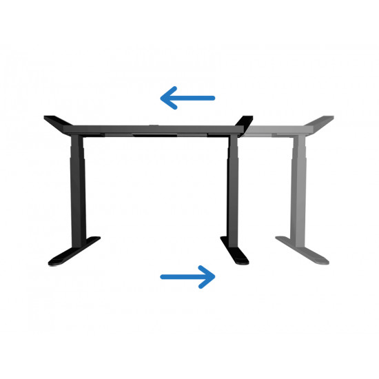 UVI Desk electrical lifting base (sit/stand) desk black