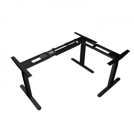 UVI Desk Electric Adjustable (sit-stand) corner frame Black