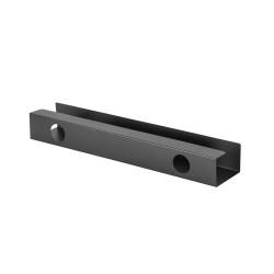 UVI Desk Under Table Steel Cable Organizer Black